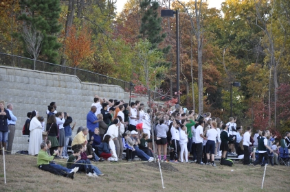 A huge crowd showed up to cheer on the Wolves! (Photo Credit: Jennifer Cole)