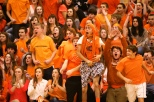 The students go wild during the Orange Out in 2013