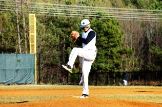 Austin Otter (Class of 2014) throws a pitch (Photo by: Paul Fritschner)
