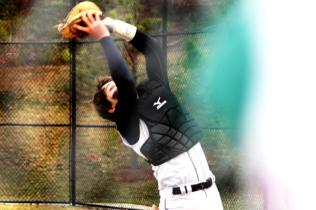Billy Klein (Class of 2013) catches the ball for an out (Photo by: Paul Fritschner)