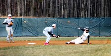 Charlie Dillon slides into second base (Photo by: Paul Fritschner)
