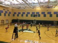 The volleyball team takes on St. John's (Photo by: Paul Fritschner)