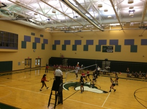 Volleyball gets ready to return the ball (Photo by: Paul Fritschner)