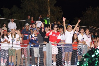 JP students cheer on their Wolves (Photo by: Liz Magyar)
