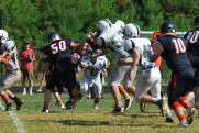John Paul's Defensive line (Photo by: Laurie Young)