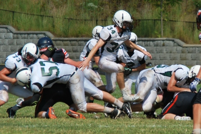 John Paul's Offensive line (Photo by: Laurie Young)