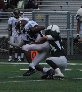 Douglas Parker makes a tackle (Photo by: Laurie Young)