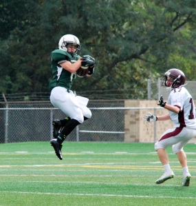 Brandon Perroots intercepts the pass (Photo by: Laurie Young)