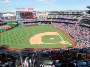 Nationals Park from above
