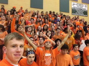 The crowd at the Orange Out on January 29th, 2015 (Photo by: Paul Fritschner)